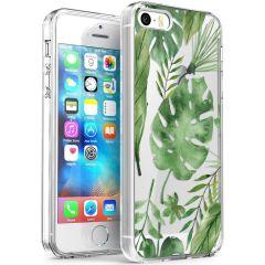 iMoshion Design hoesje iPhone 5 / 5s / SE - Bladeren - Groen