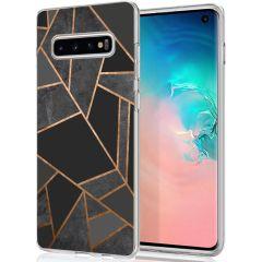iMoshion Design hoesje Galaxy S10 - Grafisch Koper - Zwart / Goud