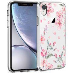 iMoshion Design hoesje iPhone Xr - Bloem - Roze