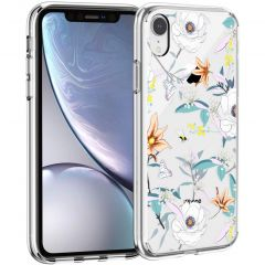 iMoshion Design hoesje iPhone Xr - Bloem - Wit