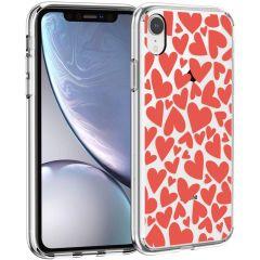 iMoshion Design hoesje iPhone Xr - Hartjes - Rood