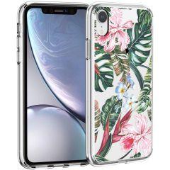 iMoshion Design hoesje iPhone Xr - Jungle - Groen / Roze