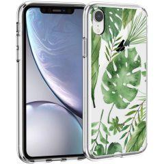 iMoshion Design hoesje iPhone Xr - Bladeren - Groen