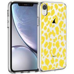 iMoshion Design hoesje iPhone Xr - Luipaard - Geel