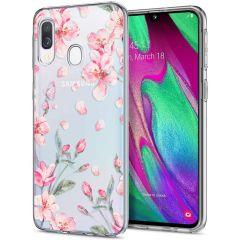 iMoshion Design hoesje Samsung Galaxy A20e - Bloem - Roze