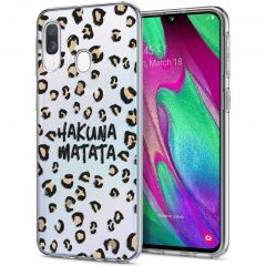 iMoshion Design hoesje Samsung Galaxy A20e - Luipaard - Bruin / Zwart