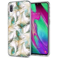 iMoshion Design hoesje Samsung Galaxy A20e - Pauw - Groen / Goud
