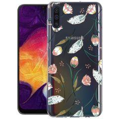 iMoshion Design hoesje Galaxy A50 / A30s - Bloem - Roze / Groen