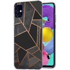 iMoshion Design hoesje Galaxy A51 - Grafisch Koper - Zwart / Goud