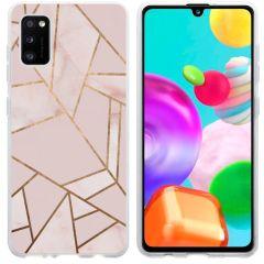 iMoshion Design hoesje Galaxy A41 - Grafisch Koper - Roze / Goud