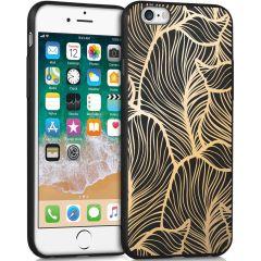 iMoshion Design hoesje iPhone 6 / 6s - Bladeren - Goud / Zwart