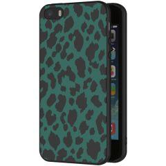 iMoshion Design hoesje iPhone 5 / 5s / SE - Luipaard - Groen / Zwart