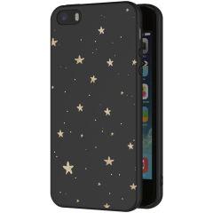 iMoshion Design hoesje iPhone 5 / 5s / SE - Sterren - Zwart / Goud