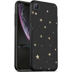 iMoshion Design hoesje iPhone Xr - Sterren - Zwart / Goud