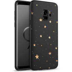 iMoshion Design hoesje Samsung Galaxy S9 - Sterren - Zwart / Goud