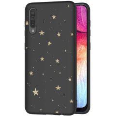 iMoshion Design hoesje Galaxy A50 / A30s - Sterren - Zwart / Goud