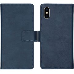 iMoshion Luxe Booktype iPhone Xs / X - Donkerblauw