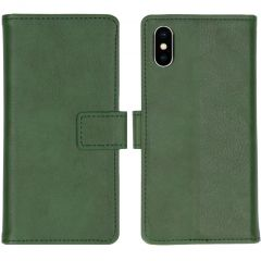 iMoshion Luxe Booktype iPhone Xs / X - Groen