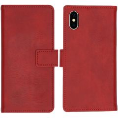 iMoshion Luxe Booktype iPhone Xs / X - Rood