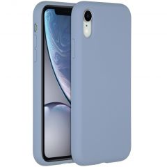Accezz Liquid Silicone Backcover iPhone Xr - Lavender Gray