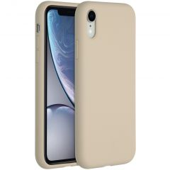 Accezz Liquid Silicone Backcover iPhone Xr - Stone