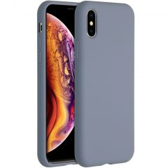 Accezz Liquid Silicone Backcover iPhone Xs / X - Lavender Gray