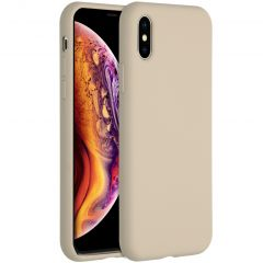 Accezz Liquid Silicone Backcover iPhone Xs / X - Stone