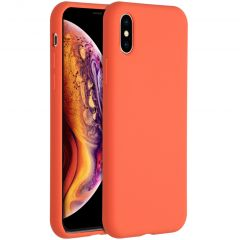 Accezz Liquid Silicone Backcover iPhone Xs / X - Nectarine