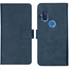 iMoshion Luxe Booktype Motorola One Hyper - Donkerblauw