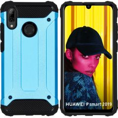 iMoshion Rugged Xtreme Backcover Huawei P Smart (2019) - Lichtblauw