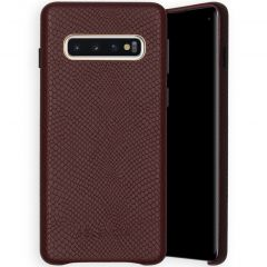 Selencia Gaia Slang Backcover Samsung Galaxy S10 - Donkerrood