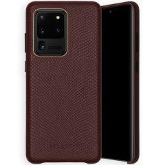 Selencia Gaia Slang Backcover Samsung Galaxy S20 Ultra - Donkerrood