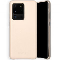Selencia Gaia Slang Backcover Samsung Galaxy S20 Ultra - Wit