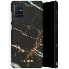 Selencia Maya Fashion Backcover Samsung Galaxy A71 - Marble Black
