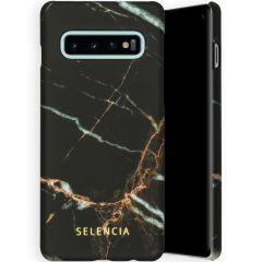 Selencia Maya Fashion Backcover Samsung Galaxy S10 - Marble Black