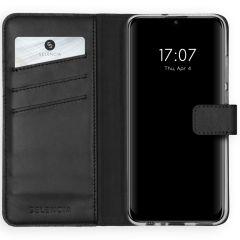 Selencia Echt Lederen Booktype Huawei P Smart (2020) - Zwart