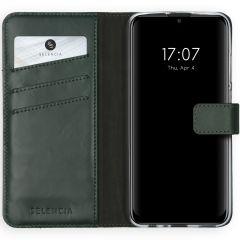 Selencia Echt Lederen Booktype Huawei P Smart (2020) - Groen