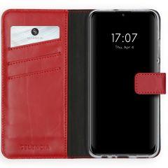 Selencia Echt Lederen Booktype Huawei P Smart (2020) - Rood