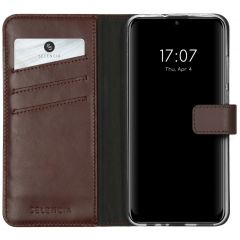Selencia Echt Lederen Booktype Huawei P Smart (2020) - Bruin