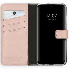 Selencia Echt Lederen Booktype Huawei P Smart (2020) - Roze