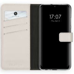 Selencia Echt Lederen Booktype Huawei P Smart (2020) - Lichtgrijs