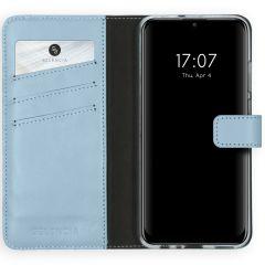 Selencia Echt Lederen Booktype Huawei P Smart (2020) - Lichtblauw
