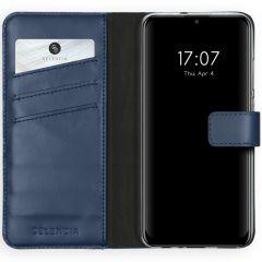 Selencia Echt Lederen Booktype Huawei P Smart (2020) - Blauw