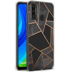 iMoshion Design hoesje Huawei P Smart (2020) - Grafisch Koper - Zwart