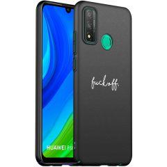 iMoshion Design hoesje Huawei P Smart (2020) - Fuck Off - Zwart