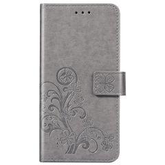 Klavertje Bloemen Booktype Samsung Galaxy A31 - Grijs