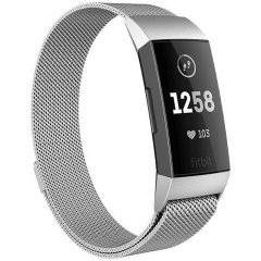 iMoshion Milanees Watch bandje Fitbit Charge 3 / 4 - Zilver