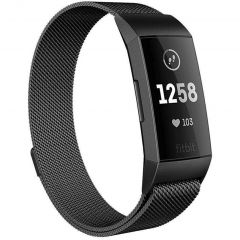 iMoshion Milanees Watch bandje Fitbit Charge 3 / 4 - Zwart