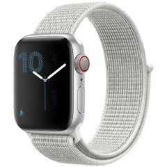 iMoshion Nylon bandje Apple Watch Series 1-7 / SE - 38/40mm - Wit