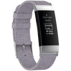 iMoshion Nylon bandje Fitbit Charge 3 / 4 - Grijs